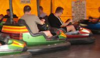 My dodgem about to be crashed into