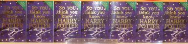 SYTYK Harry Potter on sale in WH Smiths